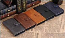 Чехол-книжка для Apple iPhone 5C Vintage Leather Flip Wallet Case, артикул: 21206
