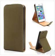 Чехол-раскладушка Flip Case (флип-кейс) для iPhone 5C Antique Grain Vertical Leather, артикул: 21509