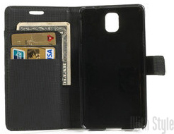 Чехол-книжка для Samsung Note 3 Lychee Leather Wallet Case, артикул: 21561
