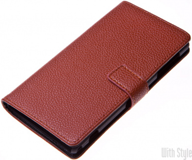 Чехол-книжка для Sony Xperia Z1 Litchi Grain Credit Card Wallet, артикул: 26171